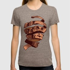 E=M.C. Escher Womens Fitted Tee Tri-Coffee SMALL