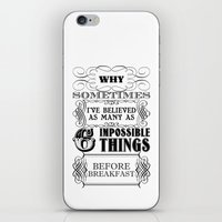 Alice in Wonderland Six Impossible Things iPhone & iPod Skin