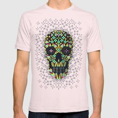 Skull 6 Mens Fitted Tee Light Pink SMALL