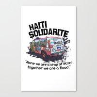 Haiti Solidarity - Ayiti Solidarite Canvas Print