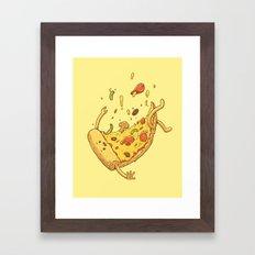 Pizza fall Framed Art Print