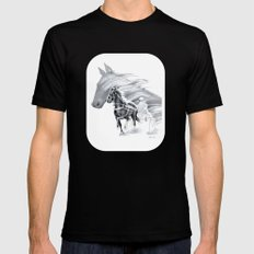 Trotting Up A Storm SMALL Mens Fitted Tee Black