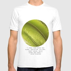 Lemon Grass White Mens Fitted Tee SMALL