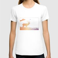 Deer Womens Fitted Tee White SMALL