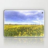 Yellow Fields Of Summer Art Laptop & iPad Skin