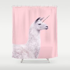 UNICORN LLAMA Shower Curtain