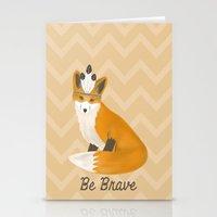 Be Brave - Fox Native Stationery Cards