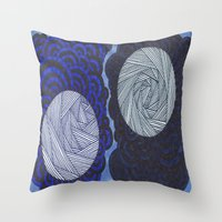 Molecular 2 Throw Pillow