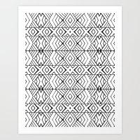 Tribal Expression Art Print