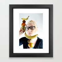 A good Food ballance is like math to a geek.... Framed Art Print