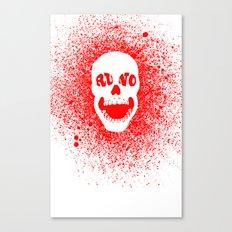 RUNO SKULL EYES Red Canvas Print