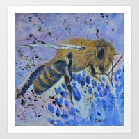 Honey Bee Print Art Print