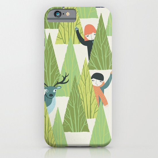 Christmas Forest iPhone & iPod Case