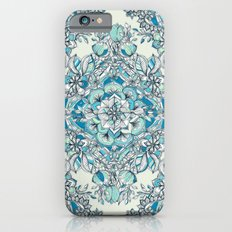 Floral Diamond Doodle in Teal and Turquoise Slim Case iPhone 6s