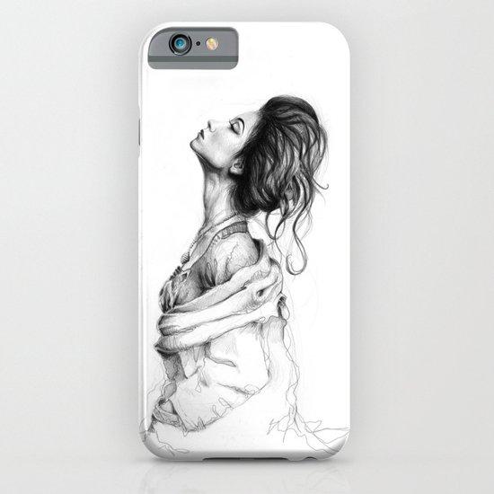 Pretty Lady Illustration iPhone & iPod Case