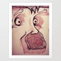 In Your Face Mr. Moustache Art Print