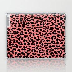 Neon Coral Leopard Laptop & iPad Skin