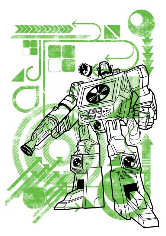 Autobot DJ Art Print