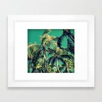 Paradise Palm Trees  Framed Art Print
