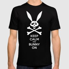 Skeleton Bunny SMALL Mens Fitted Tee Black