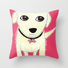 Bichon Bolognese dog Throw Pillow