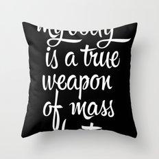 MASS SEDUCTION Throw Pillow