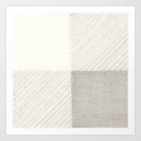 Buffalo Check Pencil Dra… Art Print