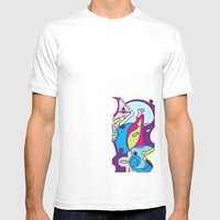 Beach Pop series Mens Fitted Tee White SMALL