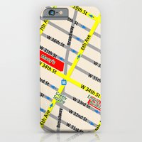 New York map design - empire state building area iPhone 6 Slim Case