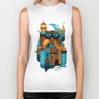 Biker Tank featuring Owl Castle by koivo