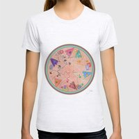 Mandala Womens Fitted Tee Ash Grey SMALL