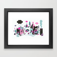 And then the rain came down  Framed Art Print