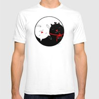 Yin Yang Mens Fitted Tee White SMALL