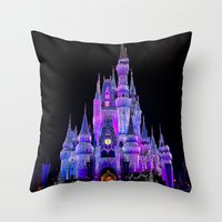 Walt Disney World Christmas Lights Throw Pillow