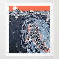 Art Print featuring Beneath by Sandra Dieckmann