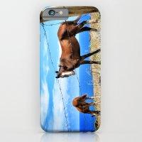 Horses Against A Blue Sk… iPhone 6 Slim Case