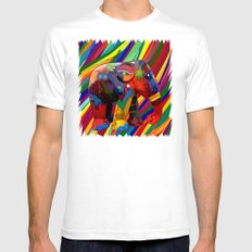 Full color abstract Elephant iPhone 4 4s 5 5c 6, pillow case, mugs and tshirt Mens Fitted Tee White SMALL
