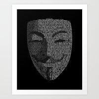 ...You May Call Me 'V' �… Art Print