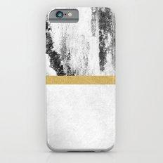 Golden Line / White iPhone 6 Slim Case