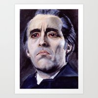 Christopher Lee As Dracu… Art Print