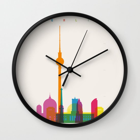Shapes of Berlin accurate to scale Wall Clock