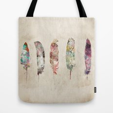 pop art feathers Tote Bag