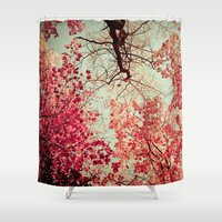 Autumn Inkblot Shower Curtain