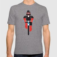 Bicycle Man Mens Fitted Tee Tri-Grey SMALL