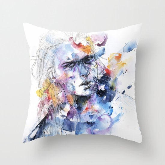 cold crossing Throw Pillow