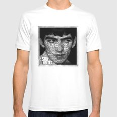 The Fab Four Songs - George Mens Fitted Tee White SMALL