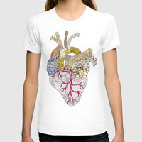 my heart is real Womens Fitted Tee White SMALL