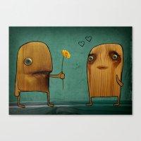 Wood He Love Me? Canvas Print