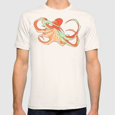 Octopus Mens Fitted Tee Natural SMALL