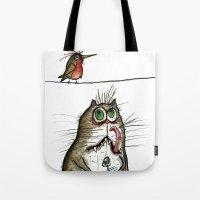 A Cat Ponders, Fish Or P… Tote Bag